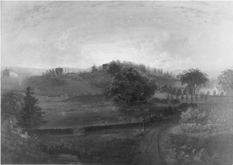 Brook Farm, 1844. Painting by Josiah Wolcott. THE MASSACHUSETTS HISTORICAL SOCIETY