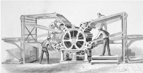 The Hoe rotary press. GETTY IMAGES