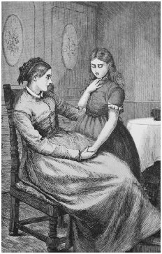 A domestic scene. From chapter 61 of the 1890 English edition of Susan Warners The Wide, Wide World. WAYNE STATE UNIVERSITY LIBRARY SYSTEM