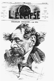 Caricature of Charles Dickens. Cover illustration for the French journal LEclipse by Andr Gill, 14 June 1868. THE LIBRARY OF CONGRESS