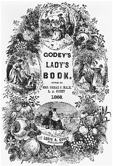 Title page of Godeys Ladys Book, 1868. BETTMANN/CORBIS