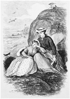 Illustration of Jo and Beth for the first edition of Little Women, 1868. Drawing by May Alcott, Louisas sister. BETTMANN/CORBIS