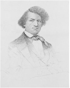 Frontispiece drawing of Frederick Douglass. From the first edition of Narrative of the Life of Frederick Douglass, 1845. SPECIAL COLLECTIONS LIBRARY, UNIVERSITY OF MICHIGAN