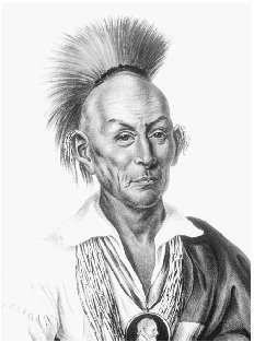 Black Hawk. Author of Life of Ma-ka-tai-me-she-kiakaik or Black Hawk, 1833. THE LIBRARY OF CONGRESS