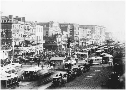 Canal Street, New Orleans, c. 1862. GETTY IMAGES