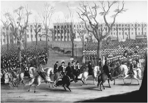 Reception of General Louis Kossuth at New York City, December 6, 1851. Painting by E. Percel. Lajos (Louis) Kossuth, leader of a short-lived Hungarian rebellion in 1848, arrived in the United States in 1851 for a triumphal tour that would raise
