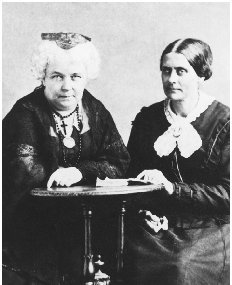 Elizabeth Cady Stanton (left) with Susan B. Anthony, c. 1881. BETTMANN/CORBIS