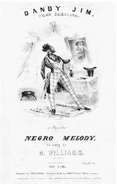 Dandy Jim from Carolina. Songbook cover, c. 1843. The irony of attempts by excluded groups to achieve good taste was a common subject in the mid-nineteenth century. THE LIBRARY OF CONGRESS