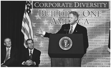 President Bill Clinton speaks to corporate leaders about diversity.