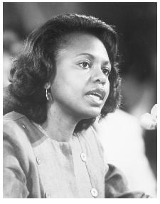 Anita Hill testifies before the Senate.