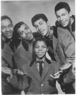 Frankie Lymon and The Teenagers. Photo by Frank Driggs, Archive Photos, Inc. Reproduced by permission. ©