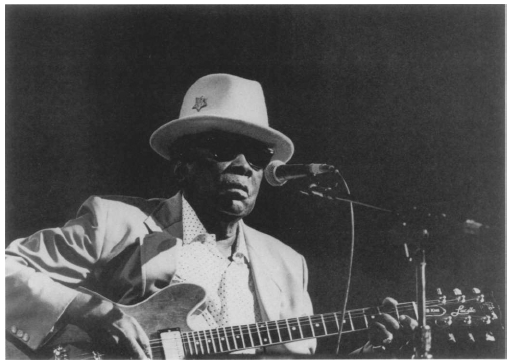 John Lee Hooker. Photo by Jack Vartoogian. Reproduced by permission