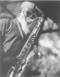 Pharoah Sanders. Photograph by Jack Vartoogian. Reproduced by permission. ©