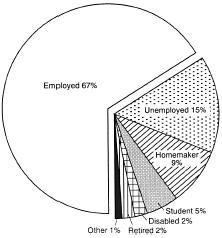 Figure 1 Employment Status of Illegal Drug Users