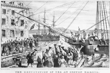 The Boston Tea Party of 1773 shows the importance that American colonists placed on tea. Upset about British taxes on tea, colonists disguised themselves as Mohawk Indians and boarded several British East India Company ships. They dumped 342 cr