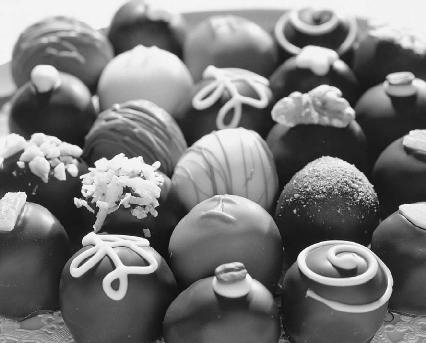 Caffeine is found in chocolate. However, the amount of caffeine in candy is usually far less than what is found in a typical cup of coffee. C/B Productions/Corbis.