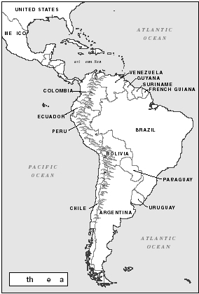The coca plant grows in only one part of the world: the northwestern and central regions of South America. The warm, humid air and rich soil found along the Andes Mountains are well suited for the growth of coca. The Gale Group.