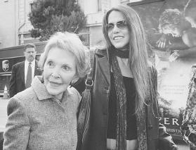Patti Davis (right), daughter of Nancy Reagan (left) and former U.S. President Ronald Reagan, battled a drug addiction when she was younger. During her husbands presidency, Nancy Reagan became a spokesperson for the Just Say No to drugs campaig