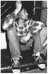 Kurt Cobain of Nirvana fought a heroin addiction. S.I.N./Corbis.