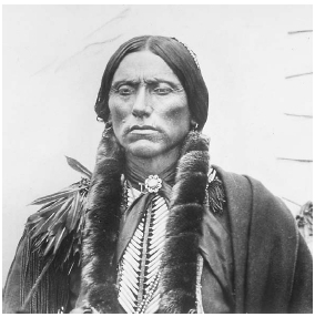 Quanah Parker, chief of the Quahadi Comanches, was one of the first people to mix elements of Christianity with traditional peyote ceremonies. Such practices continue in the NAC. Corbis/Bettmann.