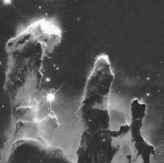 "Hubble image of the Eagle Nebula, ""the Pillars of Creation."" U.S. National Aeronautics and Space Administration (NASA)."