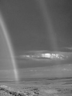 A double rainbow over the desert. FMA. Reproduced by permission.