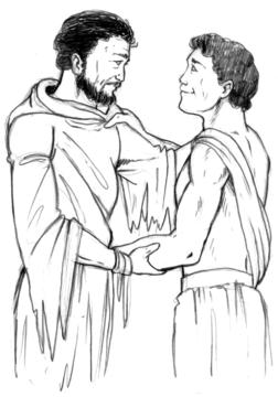 odysseus and telemachus meet drawing