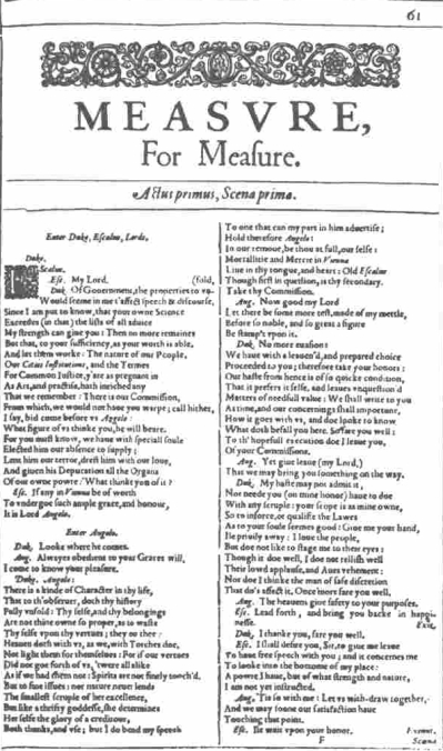 Justice and legality in shakespeares measure for measure essay