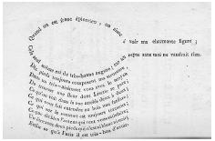 A poem about food in the shape of a saucepan. From L'épicurien français (Paris, 1812). ROUGHWOOD COLLECTION.