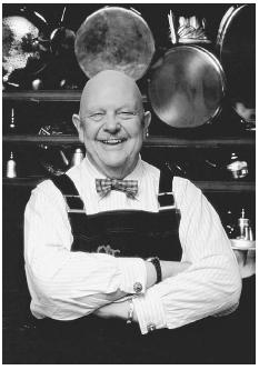 James Beard in his New York kitchen. PHOTO DAN WYNN/© RITA WYNN