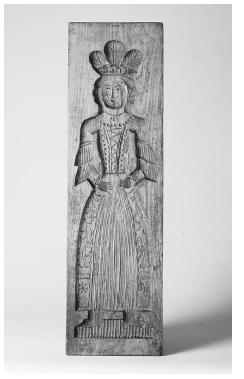 Reverse side of the mold above depicting Willem III's wife. ROUGHWOOD COLLECTION. PHOTO CHEW & COMPANY.