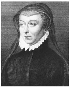 Catherine de' Medici (1519-1589), wife of Henry II of France, was better known for her cruelty and political machinations than for culinary sophistication. Nineteenth-century engraving based on an original portrait. © CORBIS (BELLEVUE).