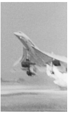 Photographs such as this, showing the Concordes left wing bursting into flame upon takeoff, helped experts determine the probable cause of the 2000 crashengine contamination from a blown tire caused by a small piece of metal on the runway. BUZ