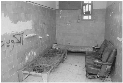 Iraqi cell used for interrogation where investigators with the U.S.-led coalition in 1990 found evidence of Iraqi torture of its own citizens and of Kuwaiti victims. JACQUES LANGEVIN/CORBIS SYGMA