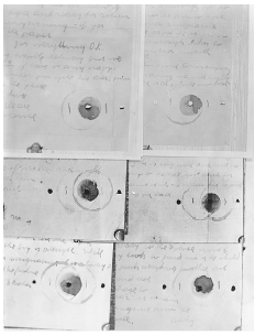 Ransom notes from the kidnapping and murder case of Charles Lindbergh, Jr. BETTMANN/CORBIS