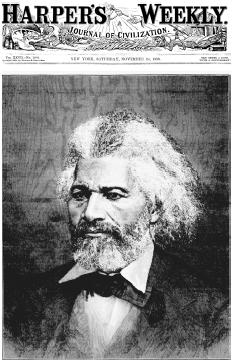 In the nineteenth century Frederick Douglass (c. 18181895) was the worlds most famous African American. He remains the most influential orator and lecturer in U.S. history. Here, a head-and-shoulders drawing of Douglass adorns the cover of Harp