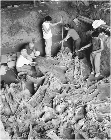 Exhumation of a mass grave in the province of Cordoba, Argentina, with bodies of people disappeared in the country between 1976 and 1977, during the last dictatorship in Argentina. [ARGENTINE FORENSIC ANTHROPOLOGY TEAM]