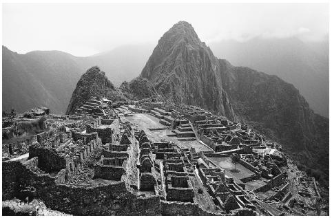 Pre-Columbian ruins at Machu Picchu, the center of Inca culture set high in the Andes Mountains of Peru. When the ruins were discovered in 1911, anthropologists found evidence of winding roads, irrigation systems, agricultural storehouses, and