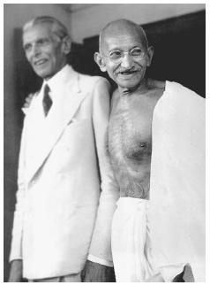 In October 1944 Mohatmas Gandhi and Mohammed Ali Jinnah met in a historic final, and ultimately unsuccessful, attempt to resolve political differences between Indias Hindu and Muslim populations. [AP/WIDE WORLD PHOTOS]