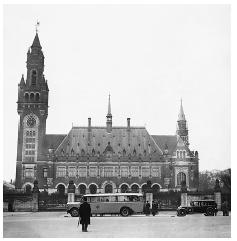 The Palace of Peace in The Hague, 1934. Home of the International Court of Justice; site of international conferences. [HULTON-DEUTSCH COLLECTION/CORBIS]