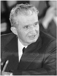 On December 17, 1989, Nicolae Ceausescu, shown here, ordered his security forces to fire on antigovernment demonstrators in the city of Timisoara. The demonstrations soon spread to Bucharest, and on December 22 Ceausescu and his wife fled the c