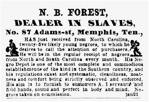 Nineteenth-century public notice advertising slaves for sale. [BETTMANN/CORBIS]