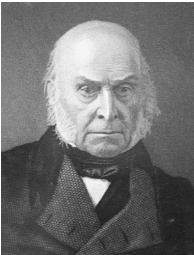 After none of the presidential candidates received a majority in the electoral voting, John Quincy Adams was chosen president in a House of Representatives vote. Library of Congress.