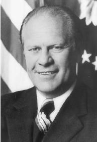 Gerald Ford, the first man in history to be appointed vice president under the auspices of the Twenty-fifth Amendment, and then the first vice president to become president following the resignation of his predecessor. Library of Congress.