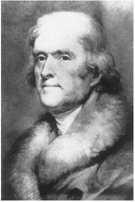 In 1791, Secretary of State Thomas Jefferson (right) told President George Washington that he believed Congress did not have the power to establish a national bank.