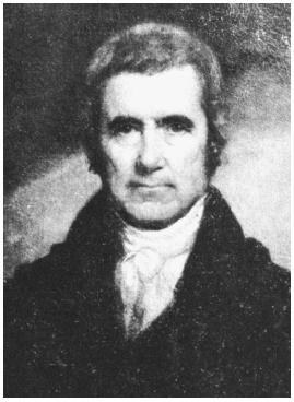 John Marshall, chief justice of the U.S. Supreme Court from 1801 to 1835.
