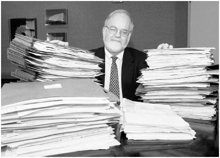 John Rother, chief lobbyist for the American Association for Retired Persons (AARP), a powerful lobbying group (1997 photo). AP/Wide World Photos.