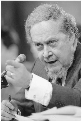 Robert Bork was nominated by Ronald Reagan in 1987 to be a U.S. Supreme Court justice but was voted down by the U.S. Senate.