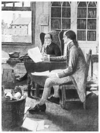 Both Benjamin Franklin (left) and Thomas Jefferson wrote about Christian persecution.  Bettmann/Corbis.