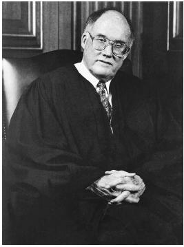 Chief Justice William H. Rehnquist presided over the impeachment trial of President Bill Clinton in 1999. Supreme Court of the United States.